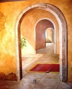 Mediterranean Mural - arches