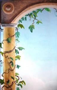 Mediterranean Mural - vine