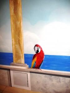 Mediterranean Mural - parrot