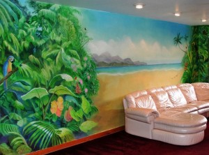 Tropical Beach Mural, NY