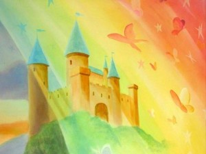 Unicorn & Castle Mural - detail
