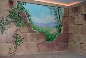 Mayan Ruins Mural I, Paonia, CO