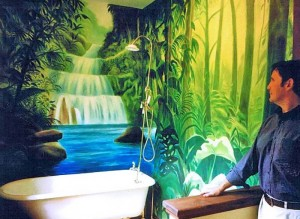 Jungle Bathroom, Lake Tahoe,  CA
