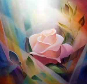 "Rose Light, 48"" x 48"""